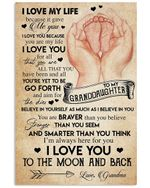 I Love My Life Because It Gave Me You Gifts Vertical Poster