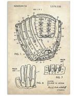 Baseball Gloves Details Design Gifts For Baseball Lovers Vertical Poster