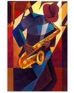 The Man Who Plays Saxophone Gift For Jazz Music Lovers Vertical Poster