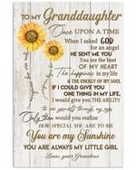You Are My Sunshine Quote Gift For Granddaughter Vertical Poster