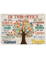 Physical Therapist We Are A Team Horizontal Poster