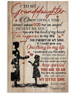 From Nanny Lady With Meaningful Words For Granddaughter Vertical Poster