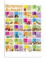 Nutrition Alphabet Colorful Design Gift For Mom Vertical Poster