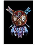 Wolf Dream Catcher Special Gift For Wolf Lovers Vertical Poster