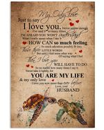 Turtles Love Message To My Only Love Trending For Family Vertical Poster