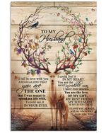 You Are The One Lovely Message Gifts For Husband Vertical Poster