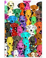 Dalmatian Tree Valentine Cutest Custom Design Gifts For Dog Lovers Vertical Poster
