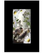 Cute Koala Playing With Butterfly Custom Design Vertical Poster