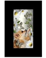Chihuahua Daisy And Butterfly Cute Gifts For Dog Lovers Vertical Poster