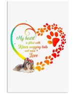 My Heart Is Filled With Kisses Of Shih Tzu Gift For Dog Lovers Vertical Poster
