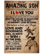 I Will Always Be There Love Message Gifts For Son Vertical Poster