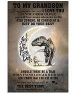 To My Grandson I Love You To The Moon And Back Vertical Poster