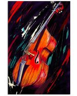 Contrabass Art Gift For Lovers Of Classical Music Vertical Poster