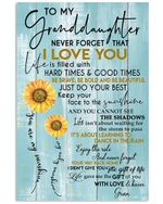Never Forget That I Love You Gift For Granddaughter From Gran Vertical Poster
