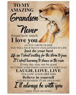 I'll Always Be With You Quote Gift For Grandson Vertical Poster