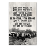 Be Positive Stay Strong Giving People Cow Vertical Poster