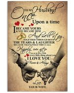 Wife Gift For Husband We'll Stay Together Through Both The Tears And Laugher Vertical Poster