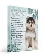 An Angel Came Called My Name Matte Canvas Puppy Pomsky Matte Canvas