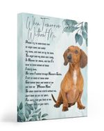 An Angel Came Called My Name Matte Canvas Red Dachshund Matte Canvas