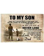 You Will Never Lose Dad Gift For Son Horizontal Poster