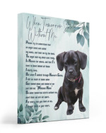 An Angel Came Called My Name Matte Canvas Black Puggle Matte Canvas