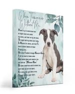 An Angel Came Called My Name Matte Canvas White And Chocolate Pitbull Matte Canvas