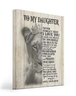 Believe In Yourself Lion Queen Matte Canvas To Daughter Matte Canvas