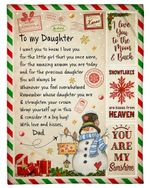 Christmas Gift For Daughter Consider It A Big Hug Fleece Blanket Sherpa Blanket