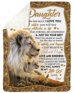 Birthday Gift For Daughter You'll Always Be My Baby Fleece Blanket Sherpa Blanket