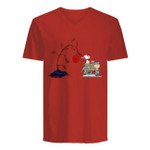 Christmas Gift Snoopy For Friends Guys V-Neck