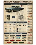 American Muscle Car Knowledge Design Gift For People Vertical Poster