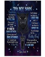 Lion To My Son I'll Always Be There To Love You Fleece Vertical Poster