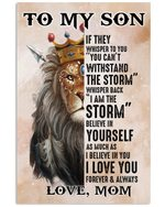 Lion King Mama To Son Fleece If They Whisper To You Vertical Poster