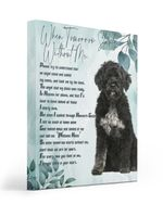 An Angel Came Called My Name Matte Canvas Portuguese Water Dog Matte Canvas