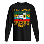 I Survived Toilet Paper Apocalypse 2020 Trending Gift For People Unisex Long Sleeve