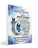 I Love You Believe In Yourself Special Gift For Niece From Aunt Matte Canvas Matte Canvas