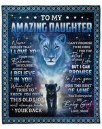 Lion Mom To Daughter Love You For The Rest Of Mine Fleece Blanket Fleece Blanket