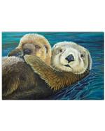 Sloth Loving Trending Gift For Sloth Lovers Horizontal Poster