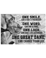 One Great Dane Can Change Your Life Giving Great Dane Lovers Horizontal Poster