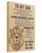 Lion Dad To Son I'm Proud Of You Matte Canvas