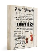 I Pray You'll Always Be Safe Daughter Gift Matte Canvas Matte Canvas