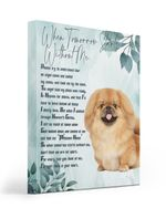 An Angel Came Called My Name Matte Canvas Tan Pekingese Matte Canvas
