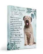 I'm There Here In Your Heart Matte Canvas Dog Lovers Bouvier Des Flandres Matte Canvas