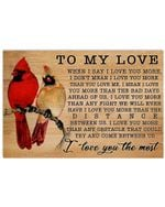 Bird I Love You More Love You The Most Poster Horizontal Poster