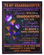 I'm Always Love You Grandma To Granddaughter Fleece Blanket Fleece Blanket
