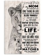 Daughter Gift For Mom With Meaningful Words How Special You're To Me Vertical Poster