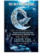 Wife Gift For Husband I Love You To The Moon And Back Vertical Poster
