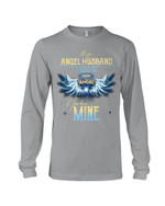 Birthday Gift For Husband I Used To Be His Angel Now He's Mine Unisex Long Sleeve