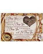 I Choose You Compass Custom Name Husband Gift For Wife Christopher And Lami Horizontal Poster