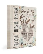 You Are My Love Deer Floral Custom Name Husband Gift For Wife Henry And Olivia Matte Canvas